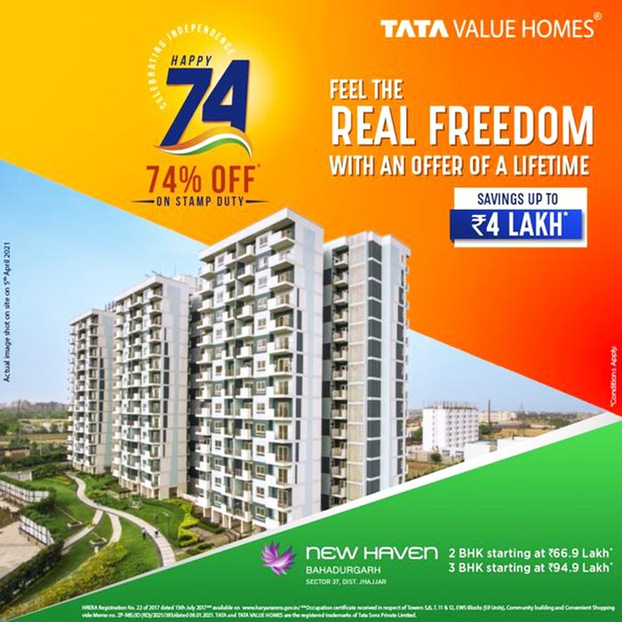 Tata Realty Offers 74% Savings on Stamp Duty